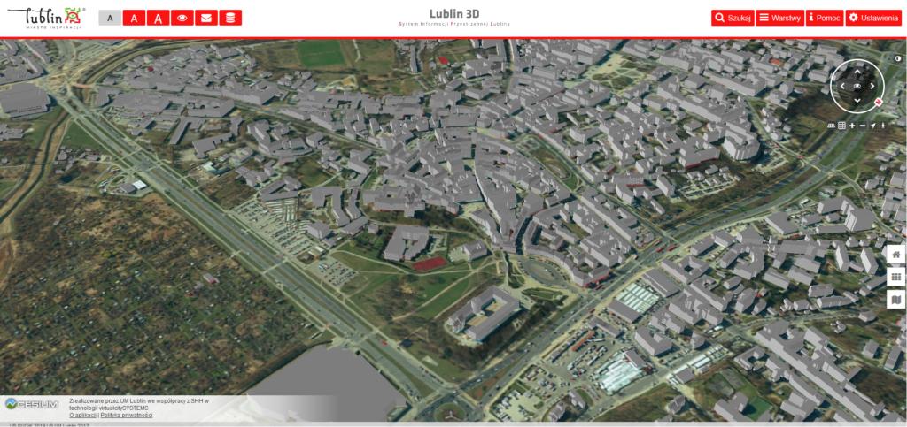 Lublin grafika 3D - zrzut ekranu
