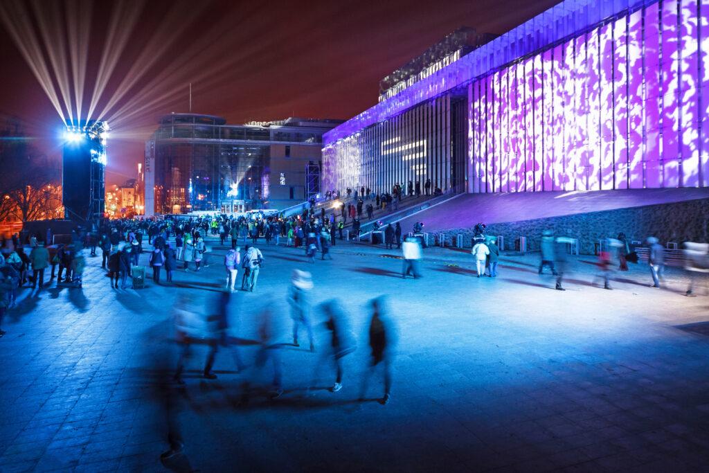 Centrum Spotkania Kultur - widok pozmroku